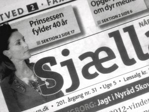 Dagbladet Sjællandske udsnit af forside
